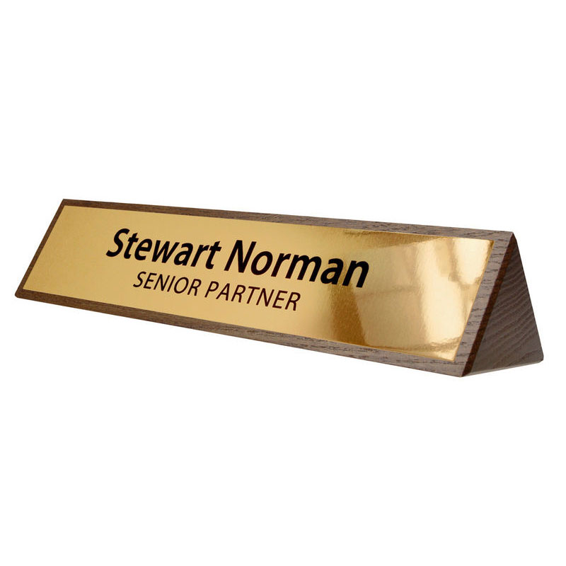 Wooden Desk Name Holder Name Holders