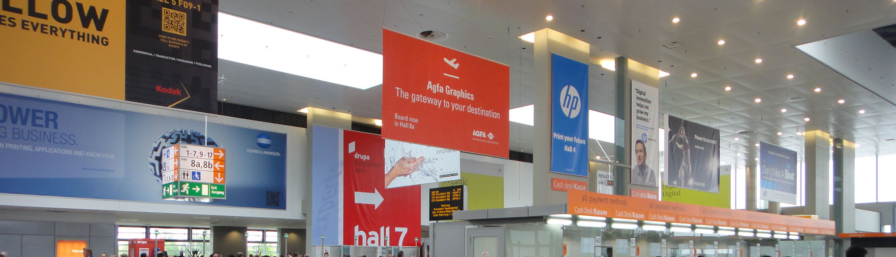 Hanging Banners Indoor Branding Ideas